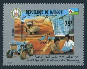 Djibouti 562,MNH.Michel 380. Conference of Donors,1983.Tractor.