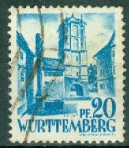 Germany - French Occupation - Wurttemberg - Scott 8N7