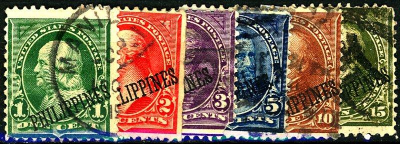 PHILIPPINES #213-218 USED