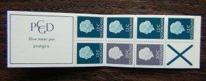 Netherlands 1953 1 Guilder Booklet 12c x 5 20c x 2 + label MNH
