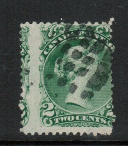 Canada #24a Used Rare Watermarked Misperf - Dramatic & One Of A Kind