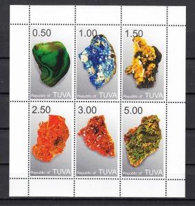Touva, 550-555 Russian Local. Minerals sheet of 6.