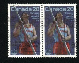Can #664   -2   pair  used VF 1975 PD
