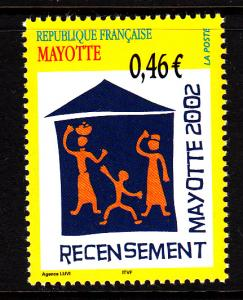 Mayotte MNH Scott #179 46c 2002 Census