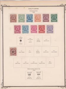 salvador stamps page ref 17178