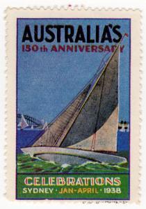 (I.B) Australia Cinderella : 150th Anniversary (Sydney 1938) Yachts