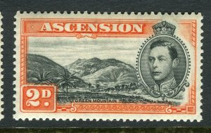 ASCENSION ISLAND; 1938 early GVI issue fine Mint hinged PERF 14, value 2d