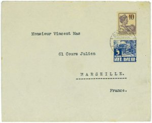 93716 - DUTCH INDIES  - POSTAL HISTORY -  COVER to FRANCE