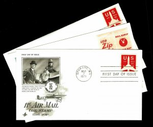 US #C78, C78a & C82 Airmail First Day Covers - Courtesy Listing (ESP#021)