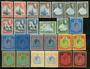 BERMUDA  SCOTT# 118/28 WITH 118a 120Ab 121Ac MINT HINGED--SCOTT VALUE $896.25