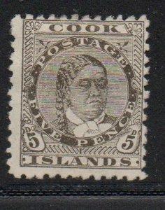 Cook Islands Sc 35 1902 5d Queen Mahea Takau stamp mint