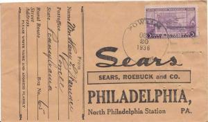 United States Pennsylvania Powell 1936 4c-bar  1872-1966.