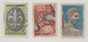 Netherlands Scott #206-207-208 Stamp - Used Set