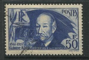 France 1938 Clement Ader  50 Fr CDS used