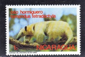 NICARAGUA SC# 946  *USED*  1c 1974 ANTEATER  SEE SCAN