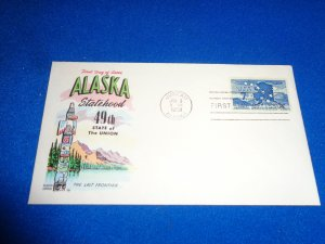 FLEUGEL MULTI COLORED CACHET FDC:  US SCOTT# C53