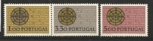 PORTUGAL 968-970, HINGED, C/SET OF 3 STAMPS, CHISMON WITH ALPHA AND OMEGA (2 ...