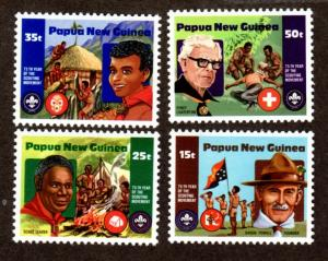 Papua New Guinea 554-557 Mint NH MNH Boy Scout Anniversary!