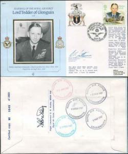 CDM8a RAF COMMANDERS Lord Tedder of Glenguin Signed Gp Capt K B Latton (D)
