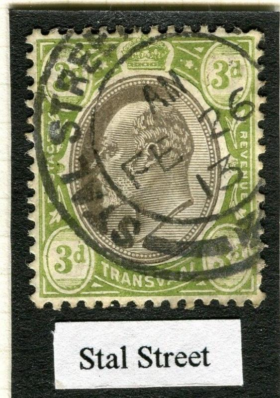 TRANSVAAL Interprovincial Period Ed VII CAPE TOWN Postmark on Stal Street