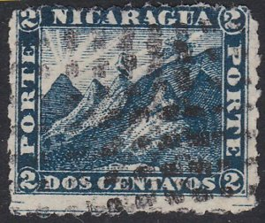 NICARAGUA  An old forgery of a classic stamp  ..............................D931