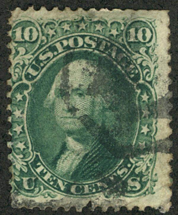 US #68 SCV $55.00 F/VF used, nice lighter cancel, bold color, VERY NICE STAMP...