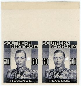 (I.B-BOB) Southern Rhodesia Revenue : Duty Stamp £10 (printer's proof)