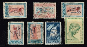 GREECE Stamp USED MINT STAMPS COLLECTION LOT