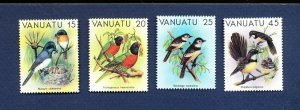 VANUATU - Scott 319-322 - FVF MNH - Birds - 1982