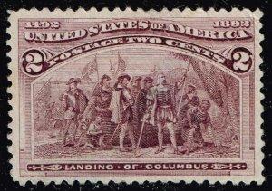US STAMP #231 2c 1893 Columbian Issue Landing of Columbus USED STAMP