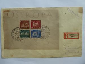 Germany Ostropa Souvenir Sheet 1935   Sc# B68  CV $825.00          (B#6)