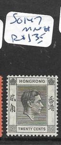HONG KONG (P2905B) KGVI 20C   SG 147   MNH