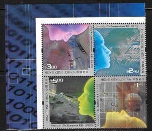 Hong Kong 2002 Cyberindustry Sc 974-977 MNH C1