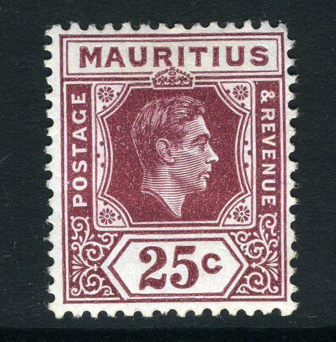 MAURITIUS-1938 25c Brown-Purple (Chalk Surfaced Paper) Sg 259 MOUNTED MINT V8375
