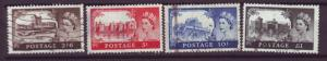 J13833 JLstamps 1955 great britain set used #309-12 queen wmk 308