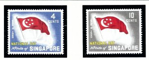 Singapore 49-50 MNH 1960 National Day (Flags)