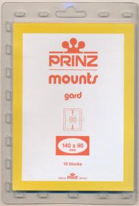 Prinz Scott Stamp Mounts Size 140/90 BLACK Background Pack of 10