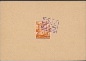 1941 Krakow Poland Germany GG Postcard Cover Jewish Gemeinde Ghetto Cancel