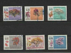 VENEZUELA 1969 FLORA, FLOWERS, TREE USED COMPLETE SET MI 1781/86