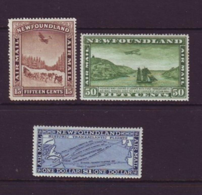 Newfoundland Sc C6-8 1931 air mail stamp set mint no wmk