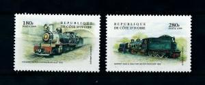 [100661] Ivory Coast 1999 Railway Train Eisenbahn  MNH