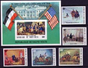 Burkina Faso (1975) #365-7, C209-10, 367A imperf. MNH