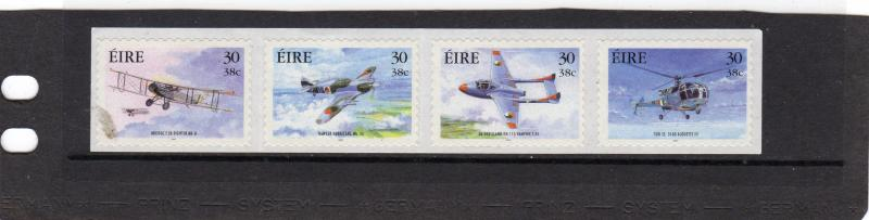 Ireland 2000 Military Aviation  Self Adhesive Strip MNH