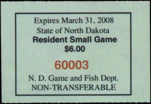 NORTH DAKOTA #26 2007  STATE DUCK STAMP BOOKLET TYPE