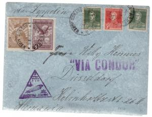 1934 Argentina LZ 127 Graf Zeppelin Cover to Germany Condor