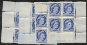 Canada -1954 5c QE Wilding Plate 16 Matched Set mint #341  VF-NH