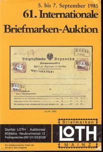 61. Loth-Briefmarken-Auktion: Internationale Briefmarkena...