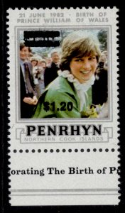 COOK ISLANDS - Penrhyn Island QEII SG334, 1983 $1.20 on $1.40, M MINT.
