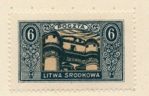 LITHUANIA 1920-22 Early Issue Fine Mint Hinged 6r. NW-07183