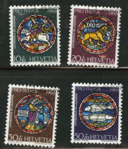 Switzerland Scott B374-77 CTO 1968 semipostal set no gum